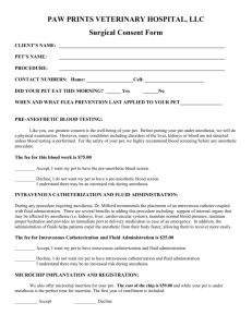 MADERA VETERINARY CLINIC CONSENT FORM