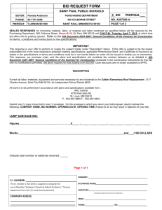 bid request form