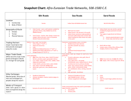 Answers - Afro-Eurasian Trade Networks, 500-1500
