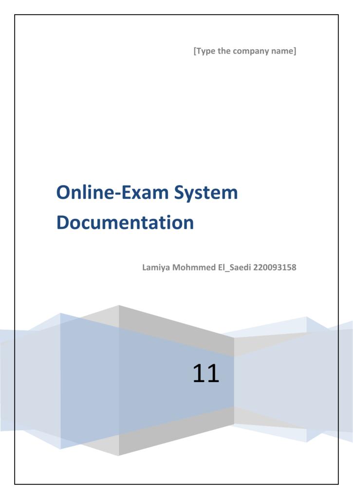 Online-Exam System Documentation