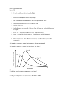 Lecture 6 Review Sheet