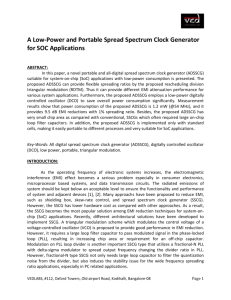 5.A Low-Power and Portable Spread Spectrum Clock Generator for