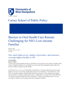 New report finds access, number of providers, and insurance