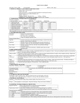 MATERIAL SAFETY DATA SHEET - enviro