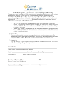 Center Participation Agreement for Associate`s Degree Scholarship
