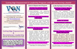 Cutting Edge Leadership & Empowerment Programs @Voice of