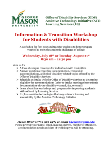 GMU Transition Workshop for Students with Disabilities