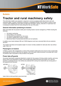 Tractor and rural machinery safety