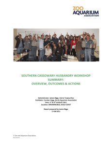 southern cassowary husbandry workshop summary: overview
