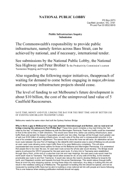 National Public Lobby - Productivity Commission
