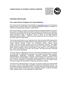 Job Description - Jobs at LSHTM