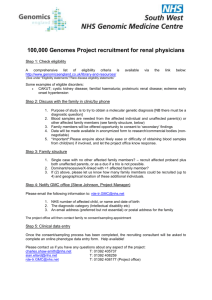 100000 Genomes Project recruitment for renal physicians