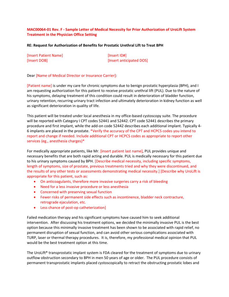 Sample letter of medical necessity for prior authorization expocarfo