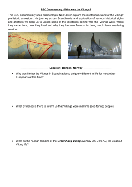 Viking Documentary Worksheet