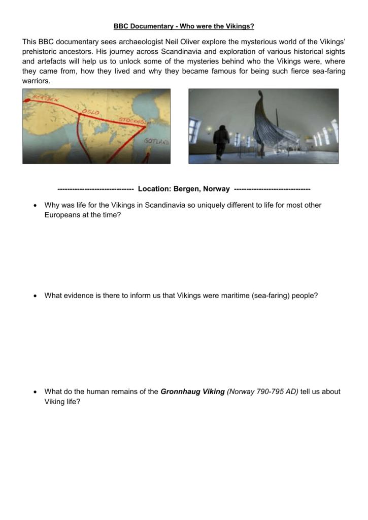 Viking Documentary Worksheet