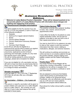 Newsletter Autumn 2014 - Lawley Medical Practice