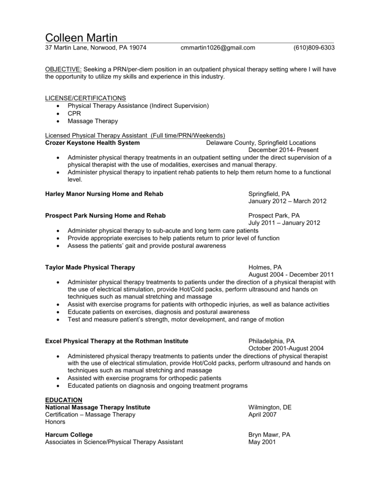 Colleen Resume