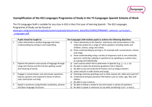 Exemplification of the KS2 Languages PoS in Spanish Y3