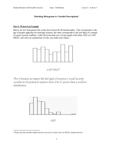 Histograms to verbal