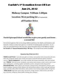 Parish`s 1 st Annual Donation Day