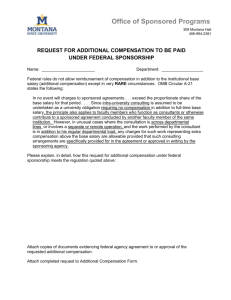 Additional Compensation Request to be Paid Under Federal