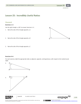 Geometry Module 2, Topic E, Lesson 25: Teacher Version