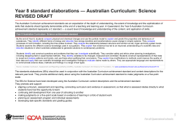 Year 8 standard elaborations Australian Curriculum: Science