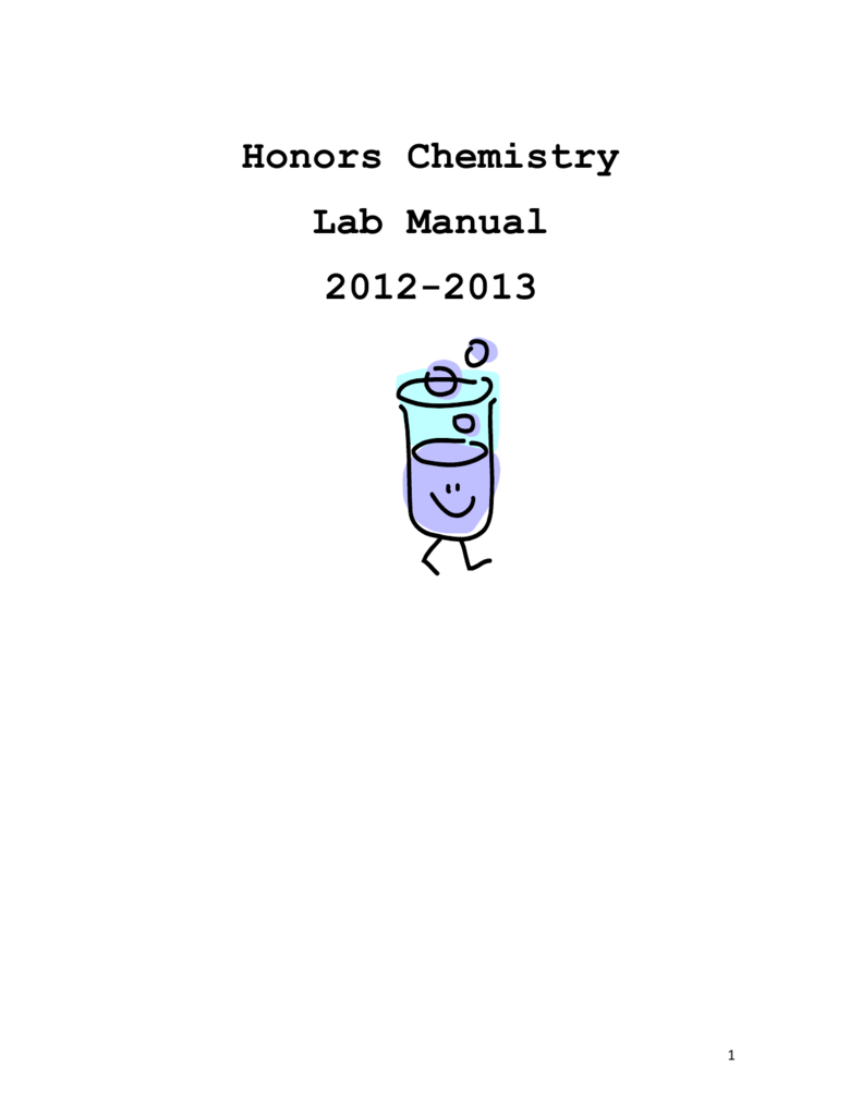 Honors Chemistry Lab Manual