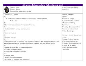 3- 2-6 weeks - Alvarado Intermediate School