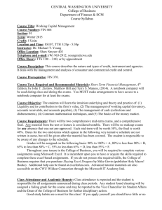 Syllabus - Winter - 2015 - Central Washington University