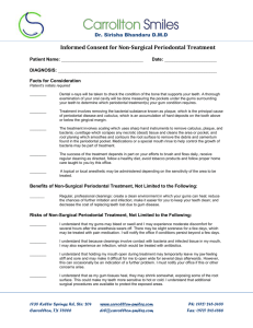 Consent form for Non Surgical Periodontal Treatment