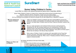 Somer Valley Children`s Centre Local Offer