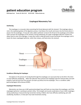 Esophageal Manometry Test