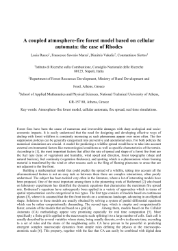 A coupled atmosphere-fire forest model based on cellular