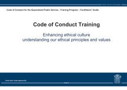 1 - Ethics in the Queensland Public Sector
