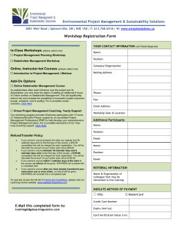 Registration form - envpmsolutions.ca