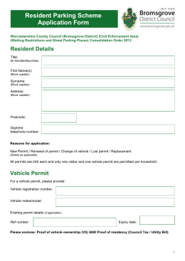 Application Form - Bromsgrove District Council