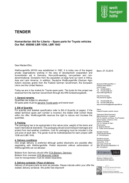 Tender - Ref. No: 456560 LBR 1036, LBR 1043