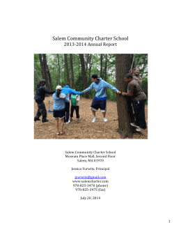 2014 SCCS Annual Report FINAL - New Liberty Charter School of