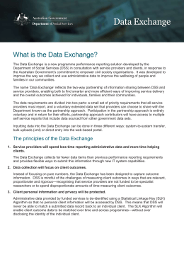 What is the Data Exchange? - Department of Social Services