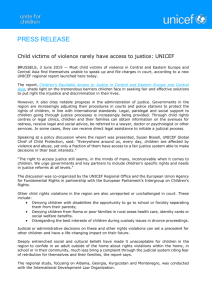 Child victims of violence rarely have access to justice: UNICEF