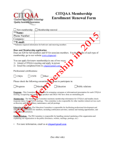 Membership Enrollment Form