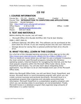 View Syllabus - Walla Walla Community College