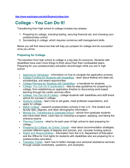 College - you can do it!