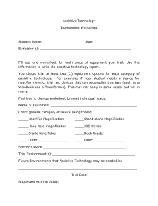 Very General Intervention Worksheet