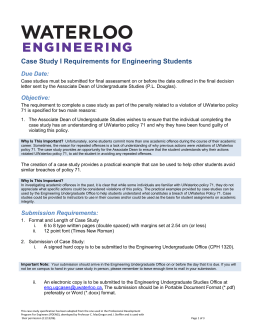 Engineering case study I
