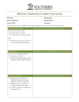 Writing Emphasis Course Checklist (doc)