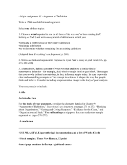 guidelines - Toulmin Analysis Essay Example