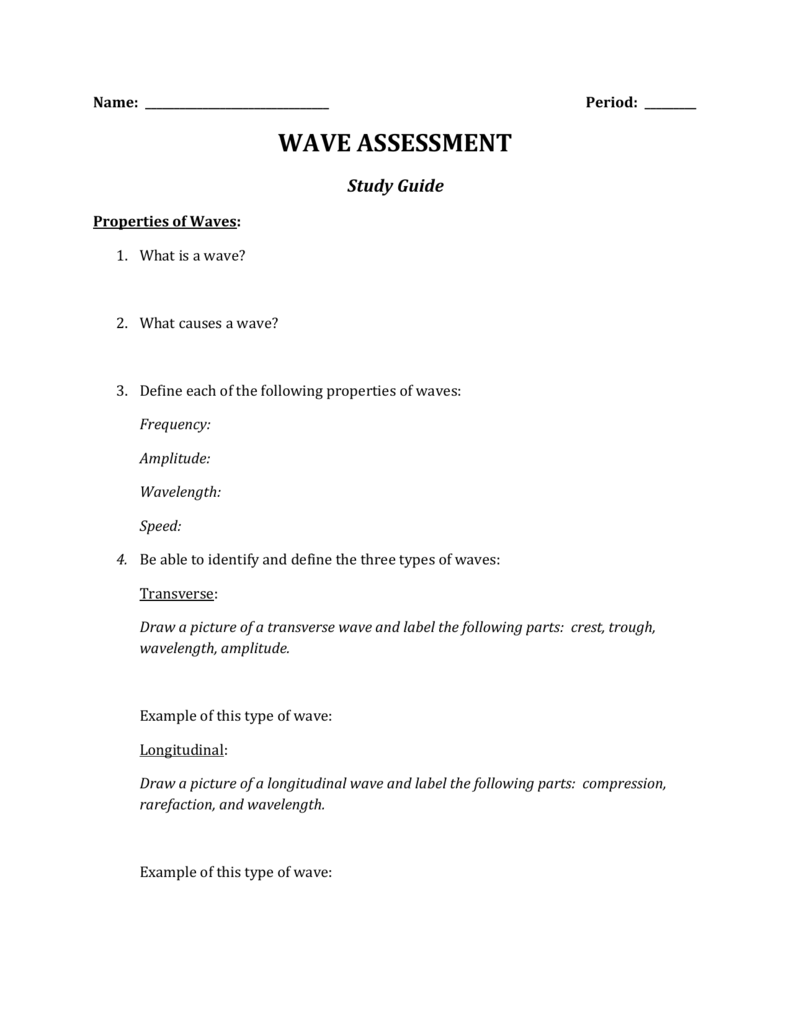 Worksheet Properties Of Waves Worksheet Grass Fedjp