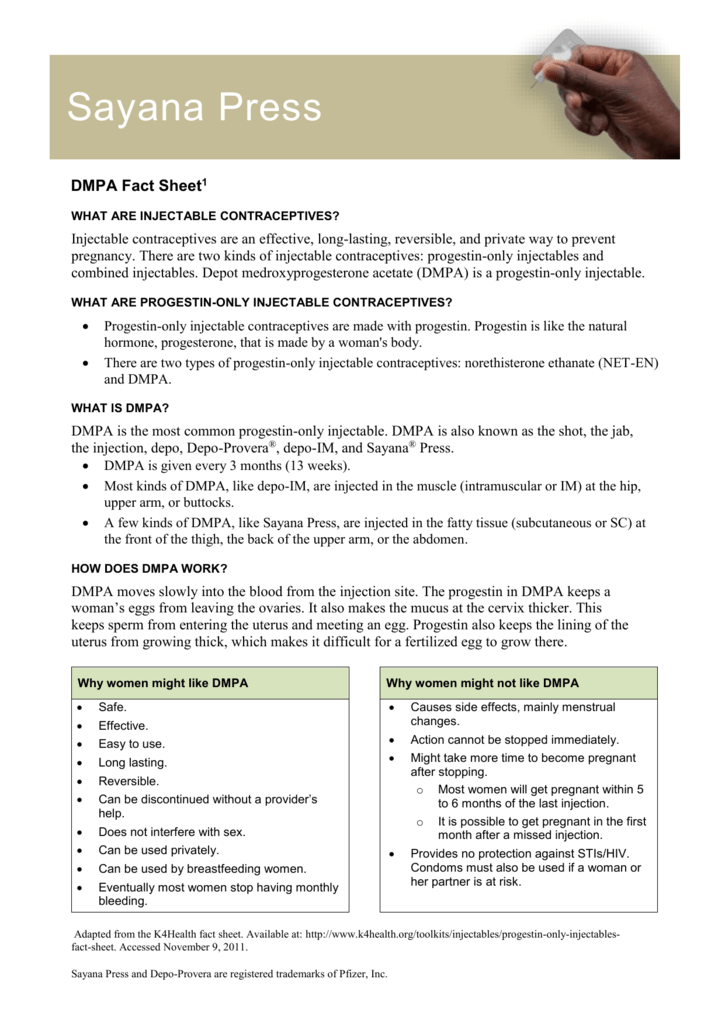 DMPA Fact Sheet 1